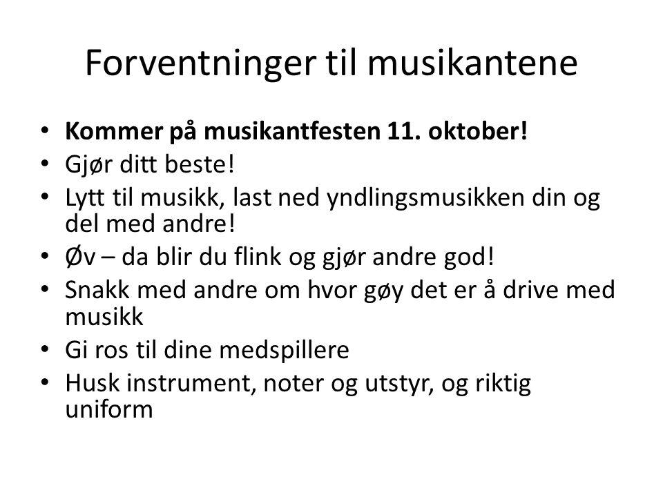 Forventninger til musikantene Kommer på musikantfesten 11.