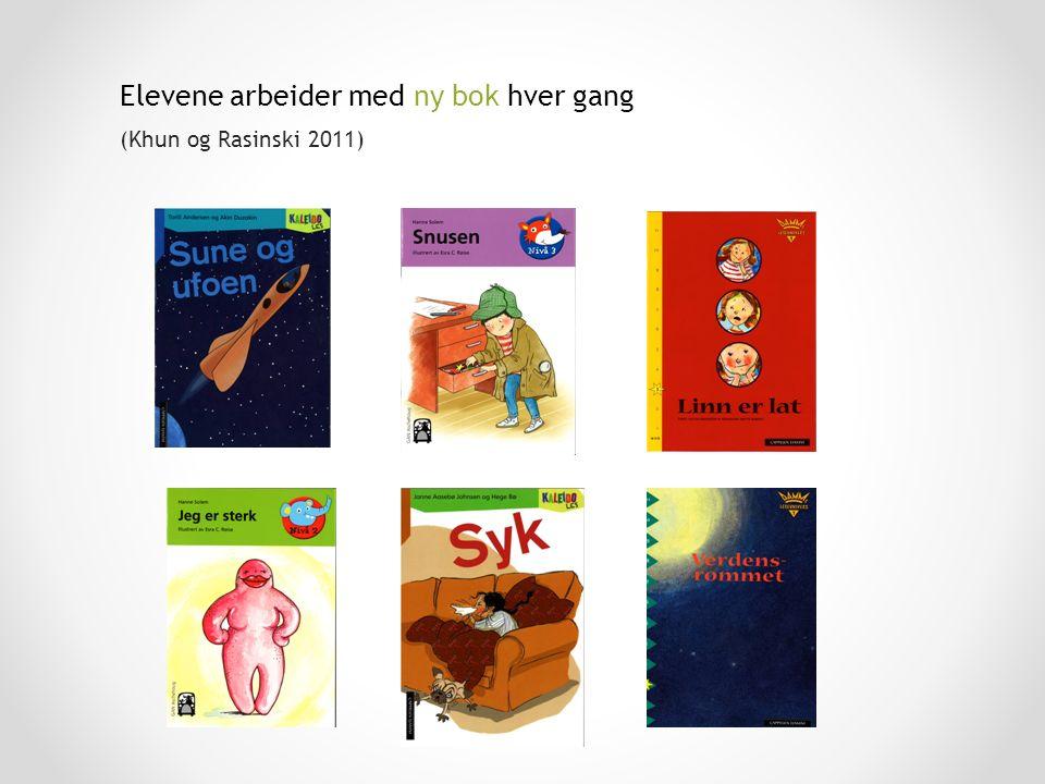 Elevene arbeider med ny bok hver gang (Khun og Rasinski 2011)
