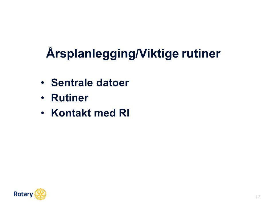   3 Sentrale datoer Årshjulet for Rotaryklubber & presidenter: Valg høst 2015 Registrering av tillitsvalgte senest 30.11.2015 på Medlemsnett.