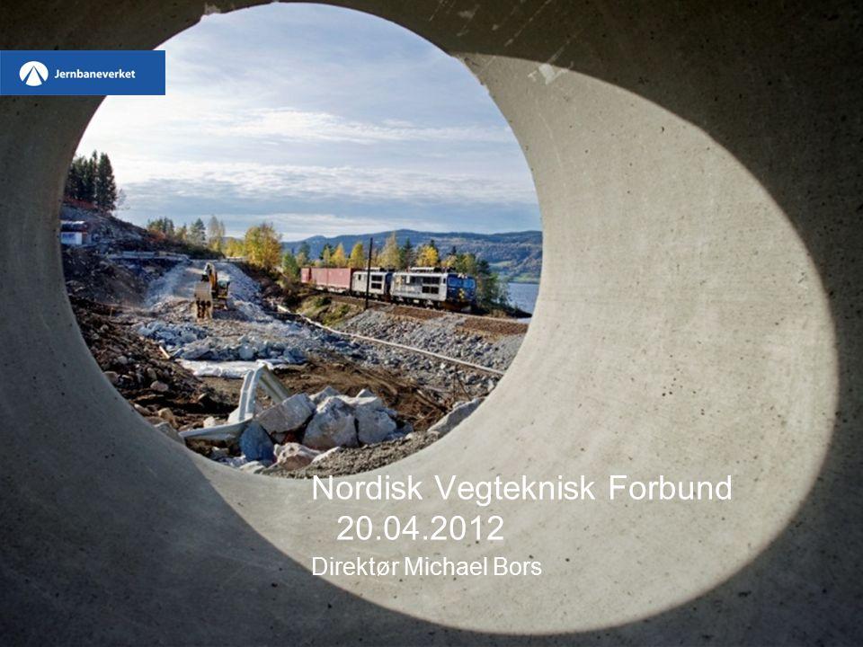Kommende prosjekter (3/3) Eidsvoll – Hamar –Grunnentrepriser inngås Q1-Q2, hver ca 1-1,5 mrd –Jernbanetekniske Entrepriser Q3-Q4 2012 Follobanen –Kontraktstrategi vedtas vår 2012 –Drivemetode for tunell besluttes vår 2012 –Oppstart forventes 2014 /
