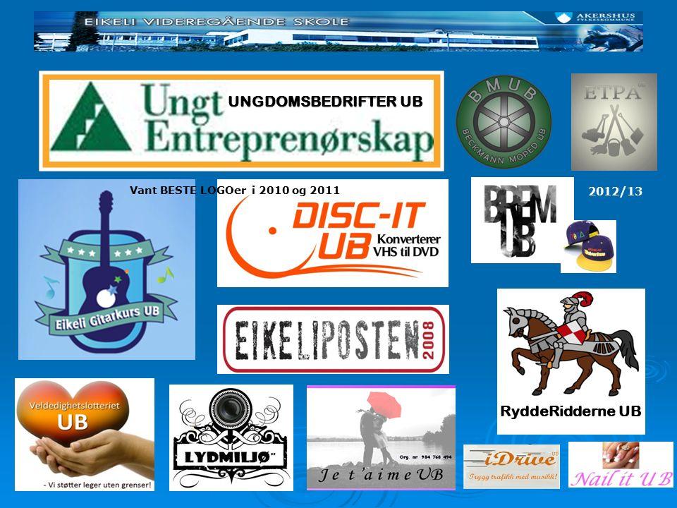 UNGDOMSBEDRIFTER UB Vant BESTE LOGOer i 2010 og 2011 RyddeRidderne UB 2012/13