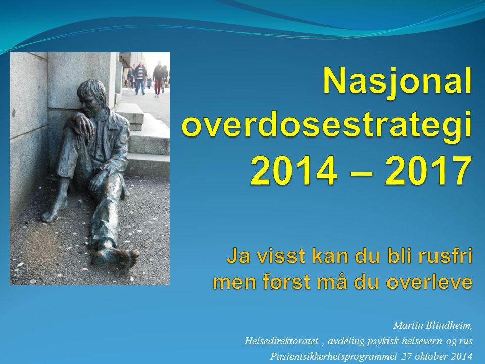 Martin Blindheim, Helsedirektoratet, avdeling psykisk helsevern og rus Pasientsikkerhetsprogrammet 27 oktober 2014