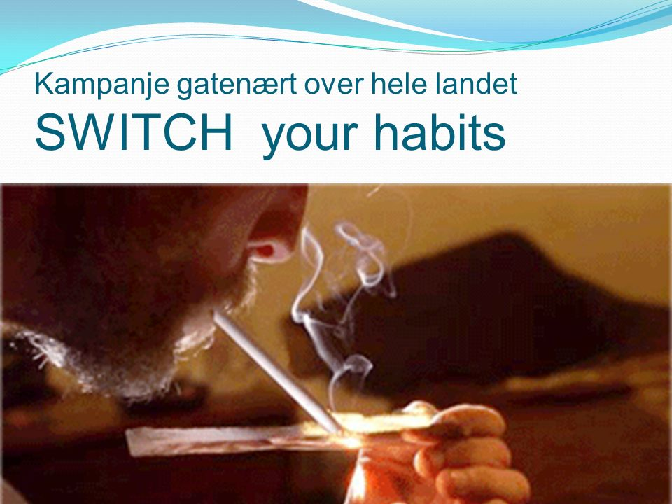 Kampanje gatenært over hele landet SWITCH your habits Pasientsikkerhetsprogrammet 27 oktober 2014