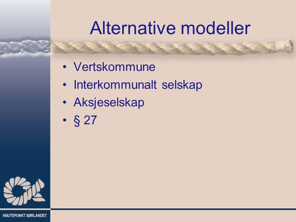 Alternative modeller Vertskommune Interkommunalt selskap Aksjeselskap § 27