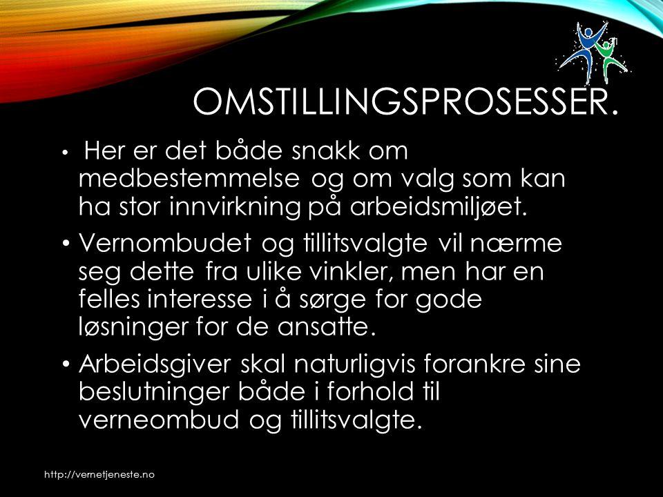 OMSTILLINGSPROSESSER.