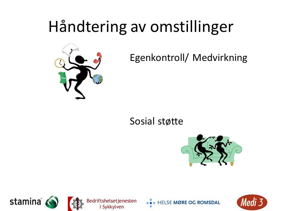 Håndtering av omstillinger Egenkontroll/ Medvirkning Sosial støtte