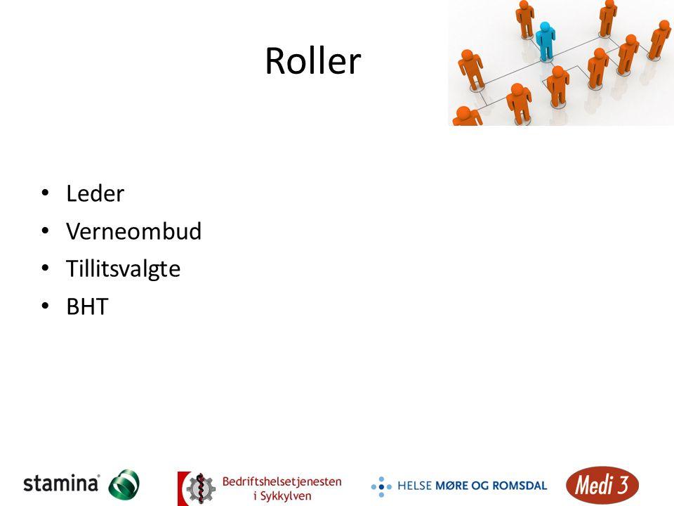 Roller Leder Verneombud Tillitsvalgte BHT