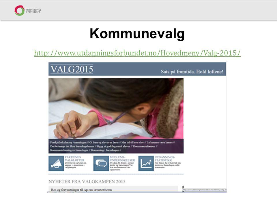 Kommunevalg http://www.utdanningsforbundet.no/Hovedmeny/Valg-2015/