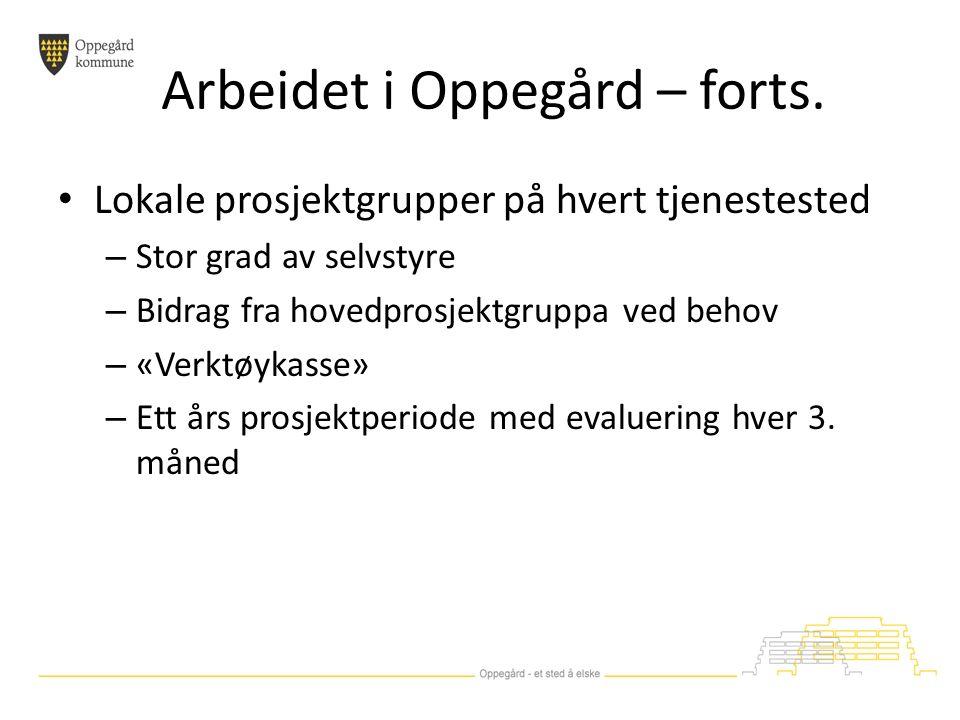 Arbeidet i Oppegård – forts.