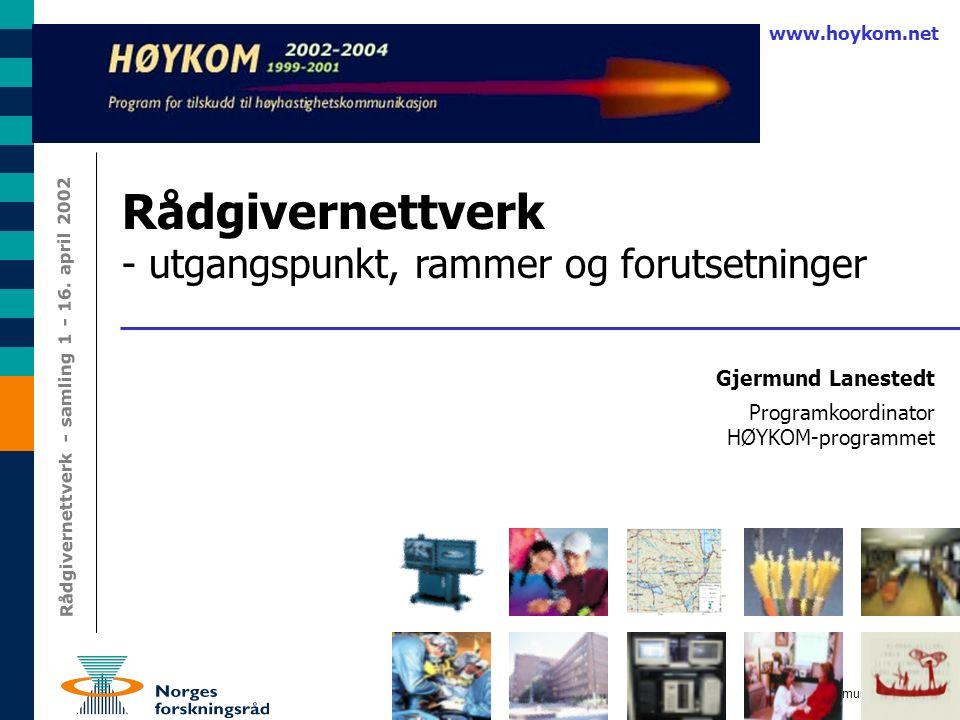 1 Gjermund Lanestedt Rådgivernettverk - samling 1 - 16.