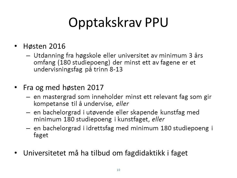 PRAKTISK-PEDAGOGISK UTDANNING (PPU)