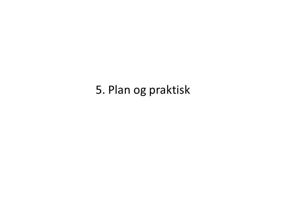 5. Plan og praktisk
