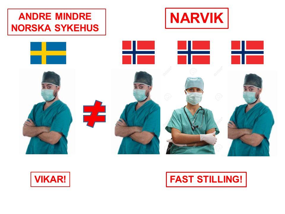 NARVIK ANDRE MINDRE NORSKA SYKEHUS VIKAR! FAST STILLING!