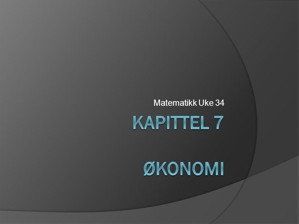 Matematikk Uke 34