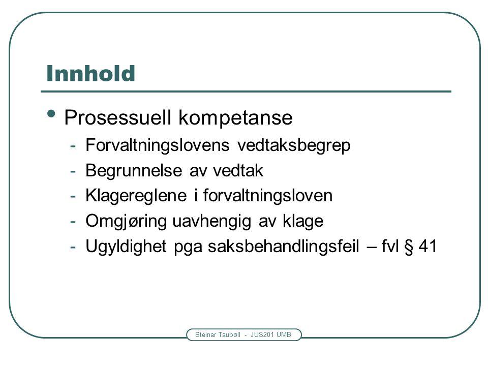 Prosessuell kompetanse ( jfr.
