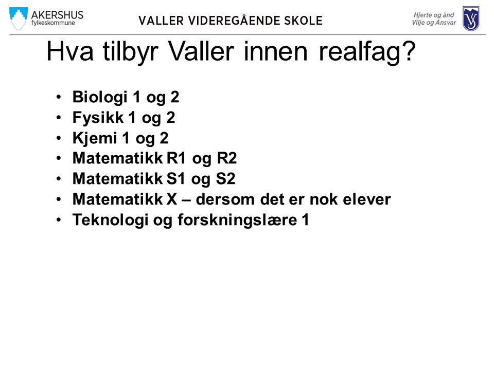 Hva tilbyr Valler innen realfag.