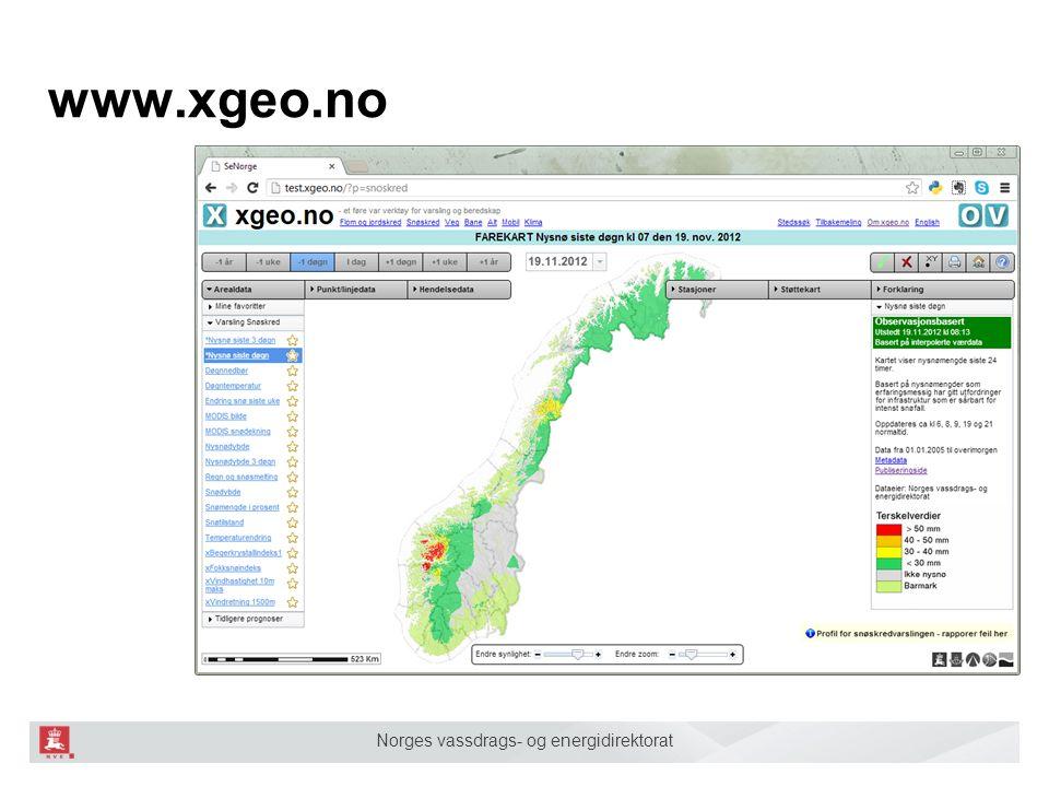 Norges vassdrags- og energidirektorat www.xgeo.no
