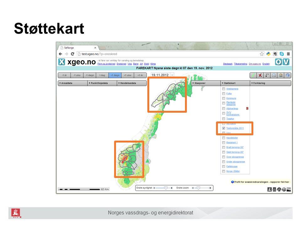 Norges vassdrags- og energidirektorat Støttekart