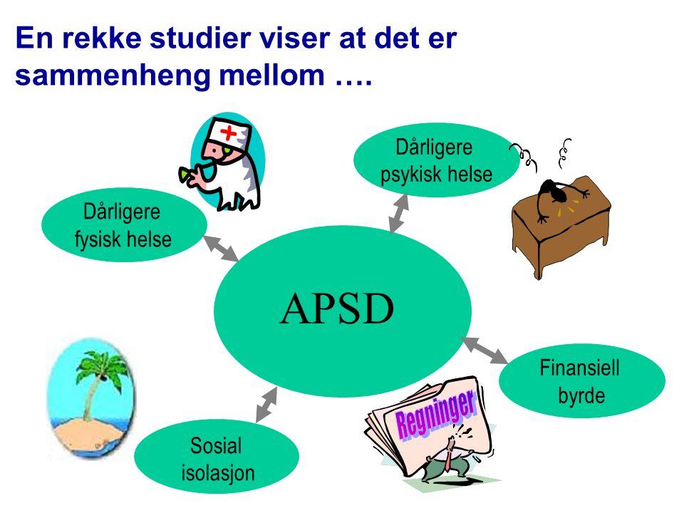 Effekt av intervensjonen på APSD * P=0,05 *