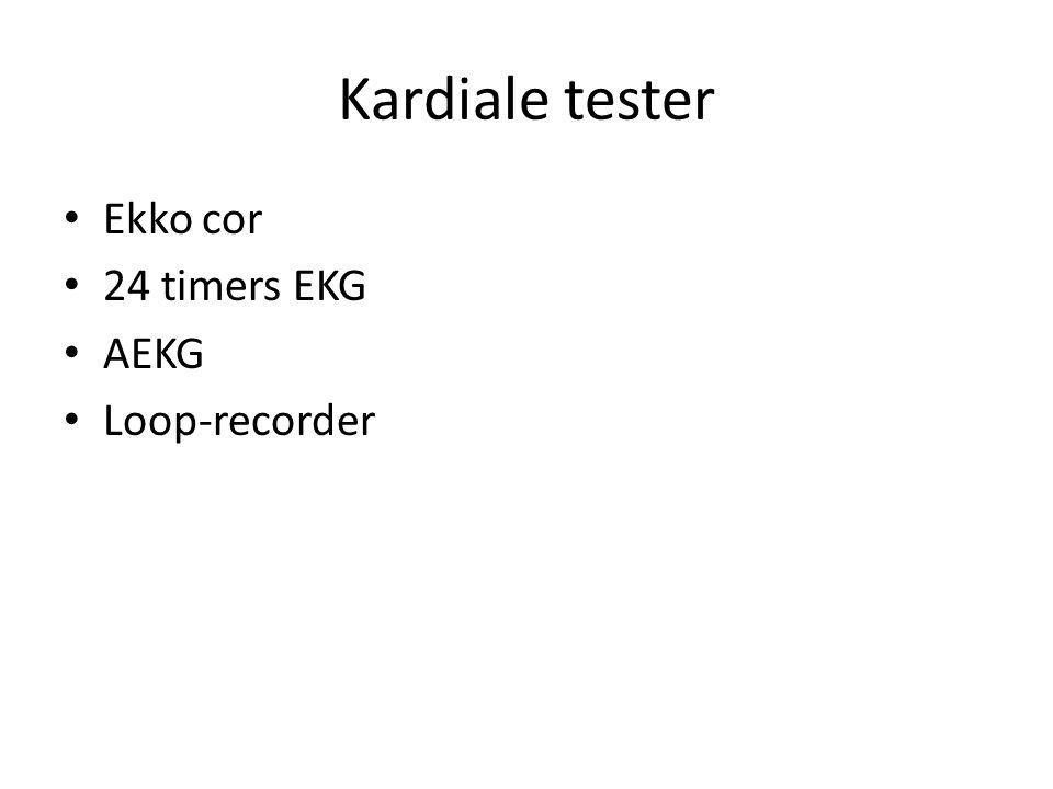 Kardiale tester Ekko cor 24 timers EKG AEKG Loop-recorder