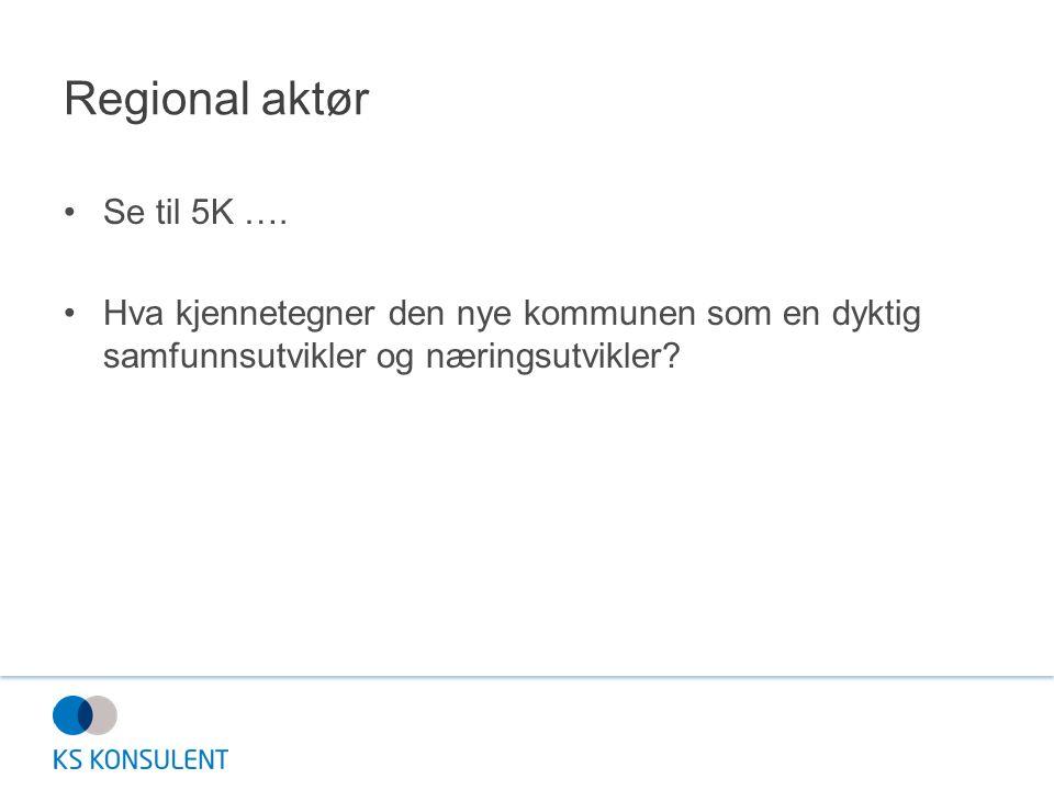 Regional aktør Se til 5K ….
