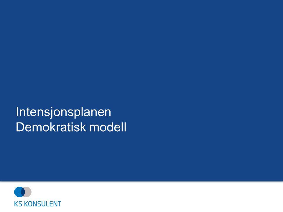 Intensjonsplanen Demokratisk modell