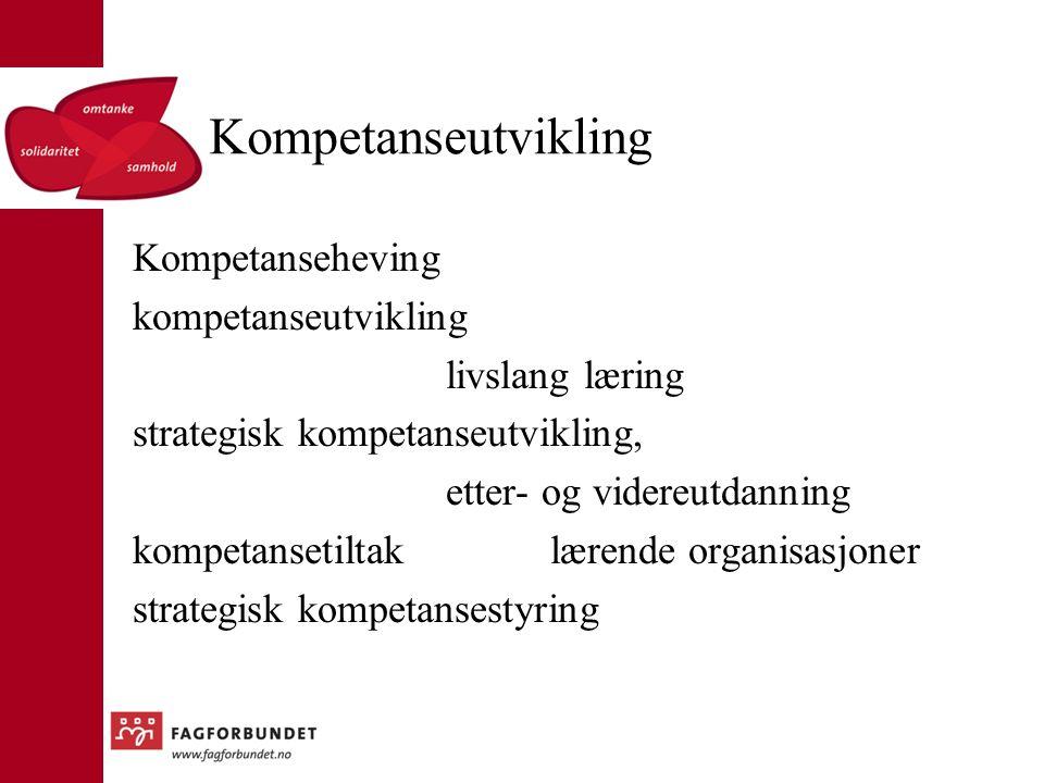Kompetanseutvikling Kompetanseheving kompetanseutvikling livslang læring strategisk kompetanseutvikling, etter- og videreutdanning kompetansetiltaklærende organisasjoner strategisk kompetansestyring