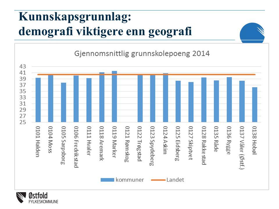 Kunnskapsgrunnlag: demografi viktigere enn geografi
