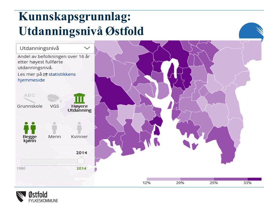 Kunnskapsgrunnlag: Utdanningsnivå Østfold