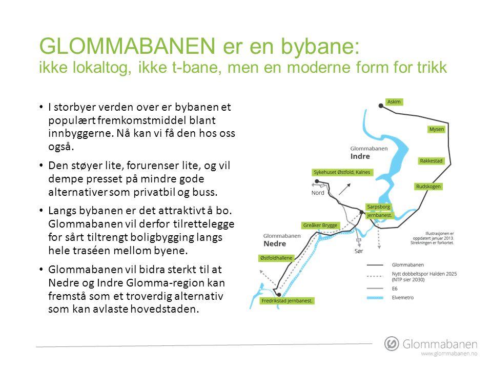GLOMMABANEN er en bybane: ikke lokaltog, ikke t-bane, men en moderne form for trikk I storbyer verden over er bybanen et populært fremkomstmiddel blan