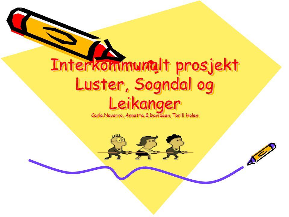 Interkommunalt prosjekt Luster, Sogndal og Leikanger Carla Navarro, Annette S.Davidsen, Torill Holen