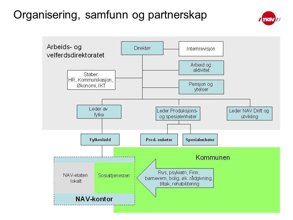 Organisering, samfunn og partnerskap