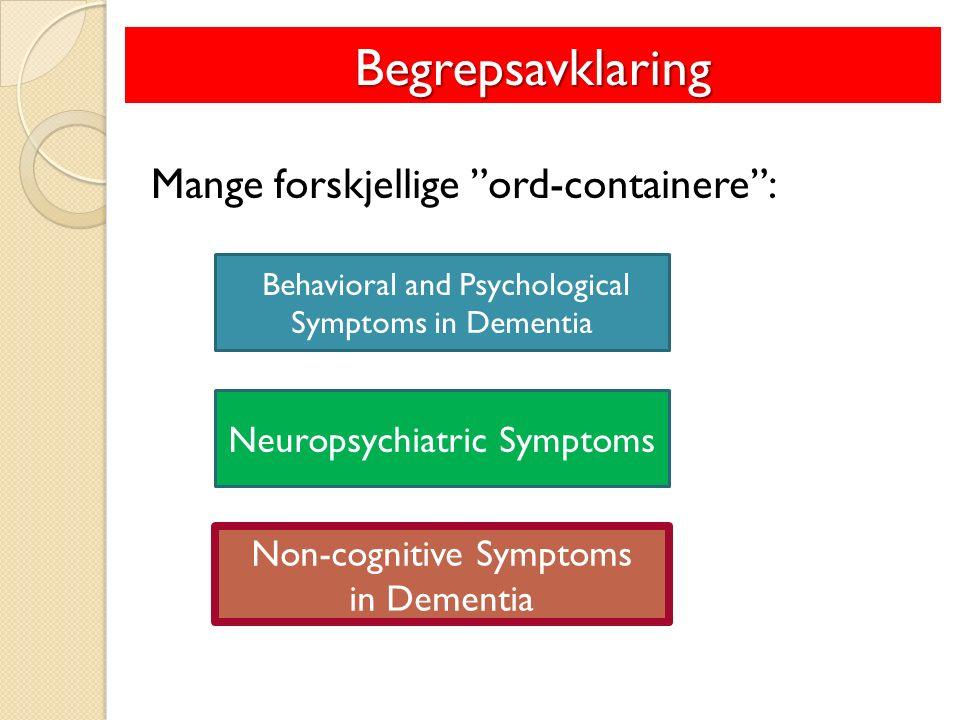 ◦ Apati, aggresjon,… (Mega et al., 1996) og avvikende motorisk atferd Strukturelle faktorer Demens v/ Alzheimer sykdom (Mega et al., 1996 og Hwang et al., 2004)
