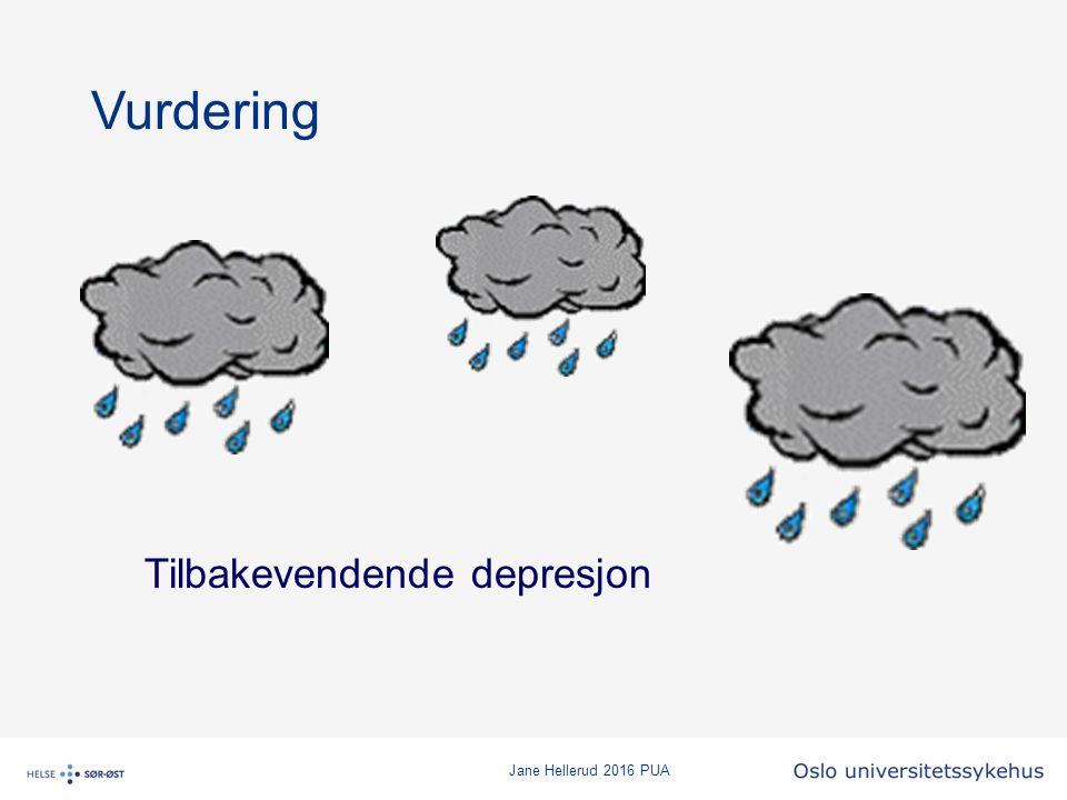 Jane Hellerud 2016 PUA Vurdering Tilbakevendende depresjon