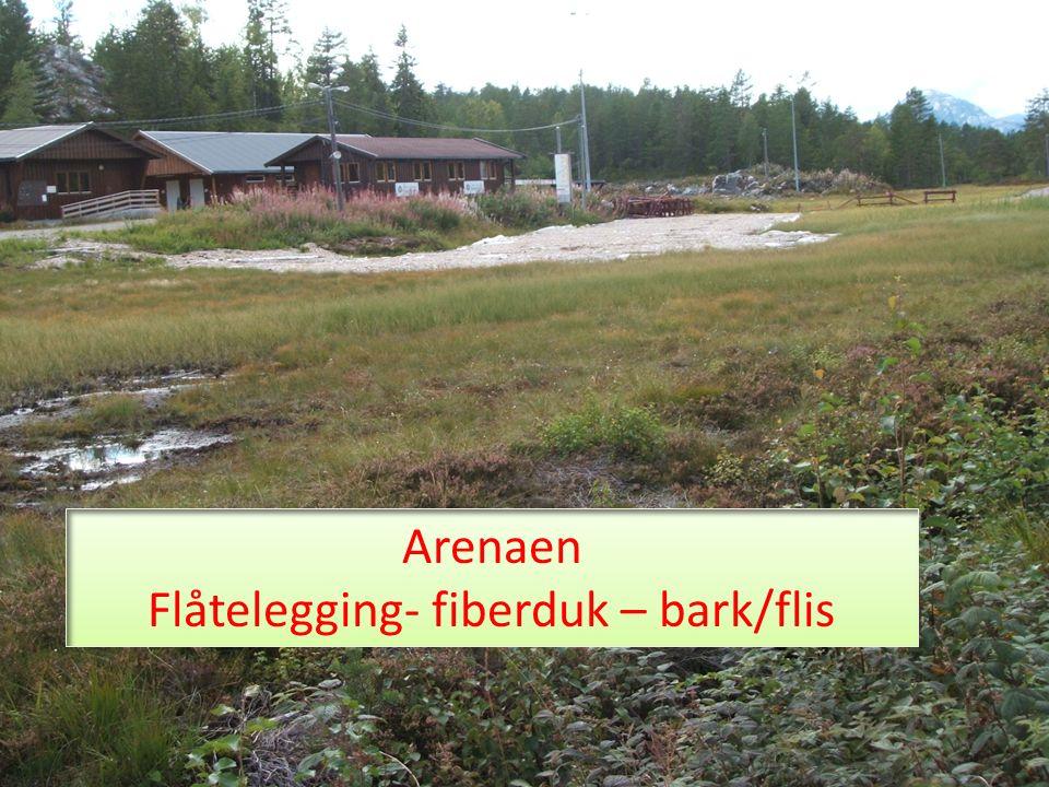 Arenaen Flåtelegging- fiberduk – bark/flis