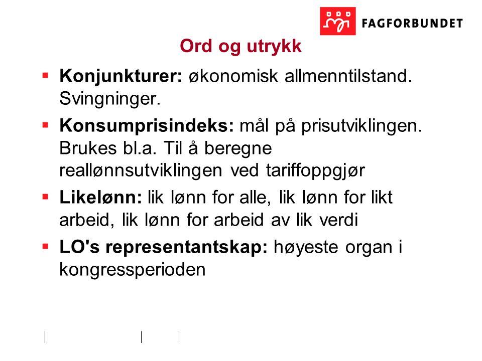 Ord og utrykk  Konjunkturer: økonomisk allmenntilstand.