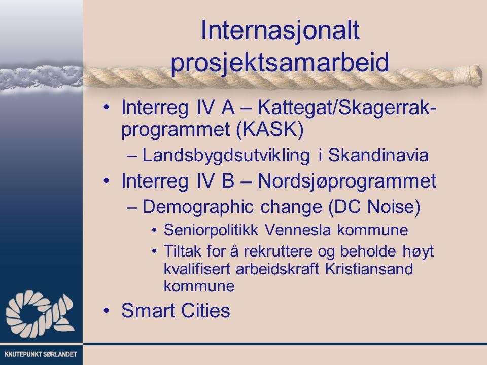 Internasjonalt prosjektsamarbeid Interreg IV A – Kattegat/Skagerrak- programmet (KASK) –Landsbygdsutvikling i Skandinavia Interreg IV B – Nordsjøprogr