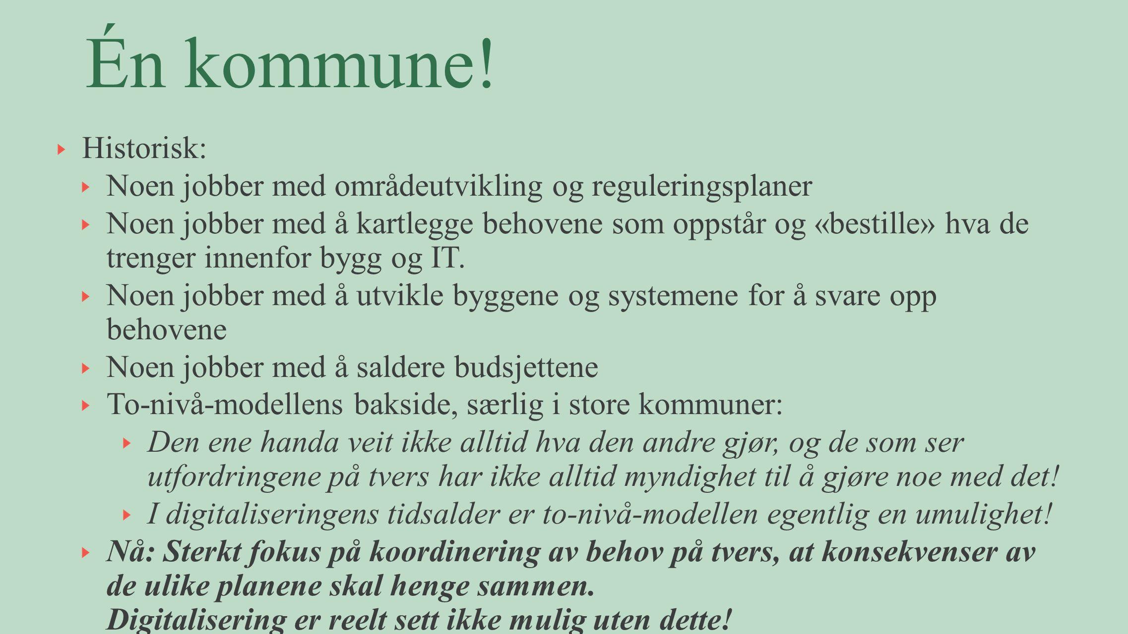 Strategisk hovedmål: Bærum kommune har etablert en synlig innovasjonskultur innen 2017 1.Delingsarenaer 2.Innovasjonsledelse 3.Bruker- og innbyggermedvirkning 4.Innovasjonsverktøy 5.Måle/synliggjøre verdi 6.Konkretisere gjennom tiltak (forankring) En innovativ og endringsdyktig organisasjon med gjennomføringskraft.
