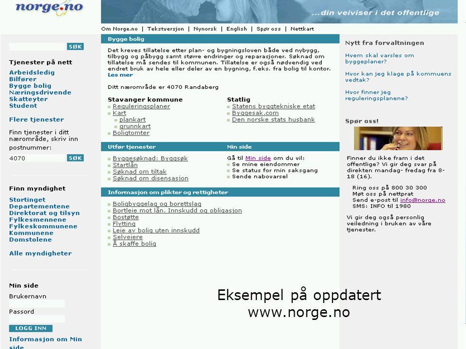 6 Eksempel på oppdatert www.norge.no