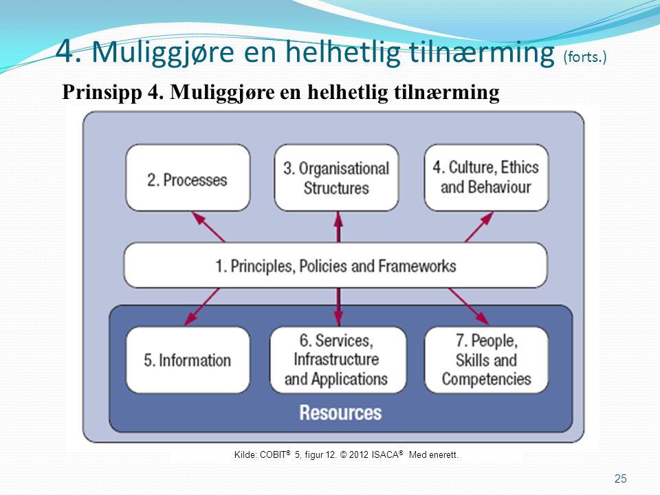 4. Muliggjøre en helhetlig tilnærming (forts.) Prinsipp 4.