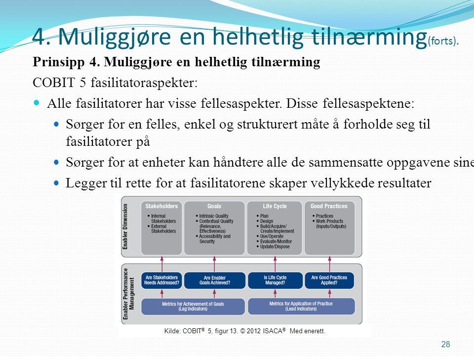 4. Muliggjøre en helhetlig tilnærming (forts). Prinsipp 4.
