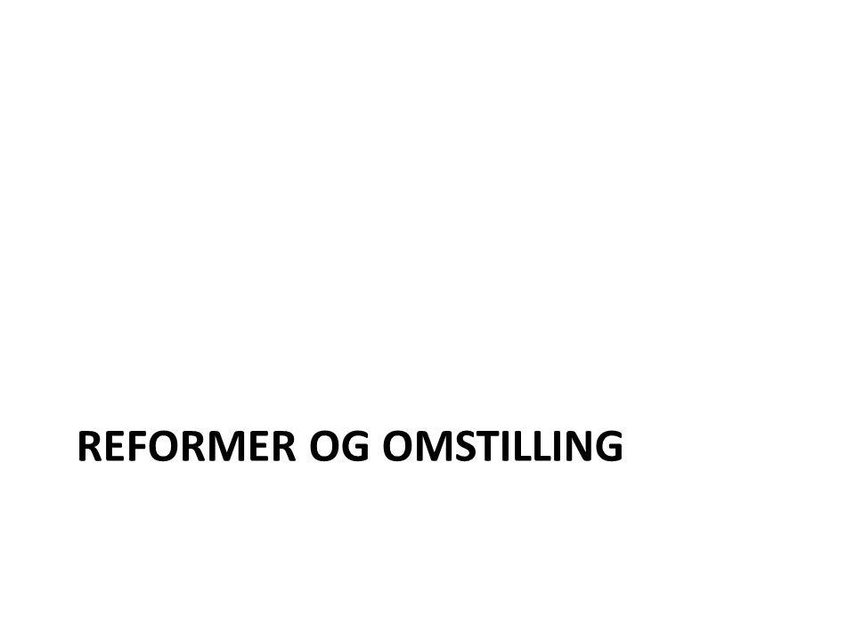 REFORMER OG OMSTILLING