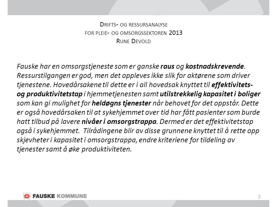PROGNOSE DEMOGRAFISK UTVIKLING 14