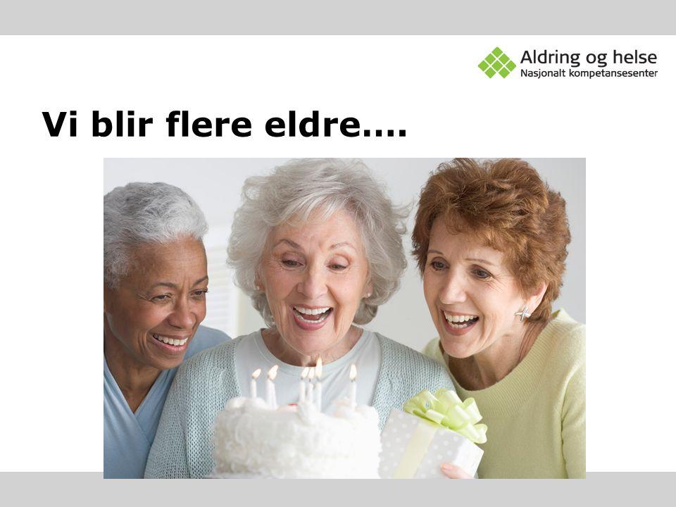 Vi blir flere eldre….