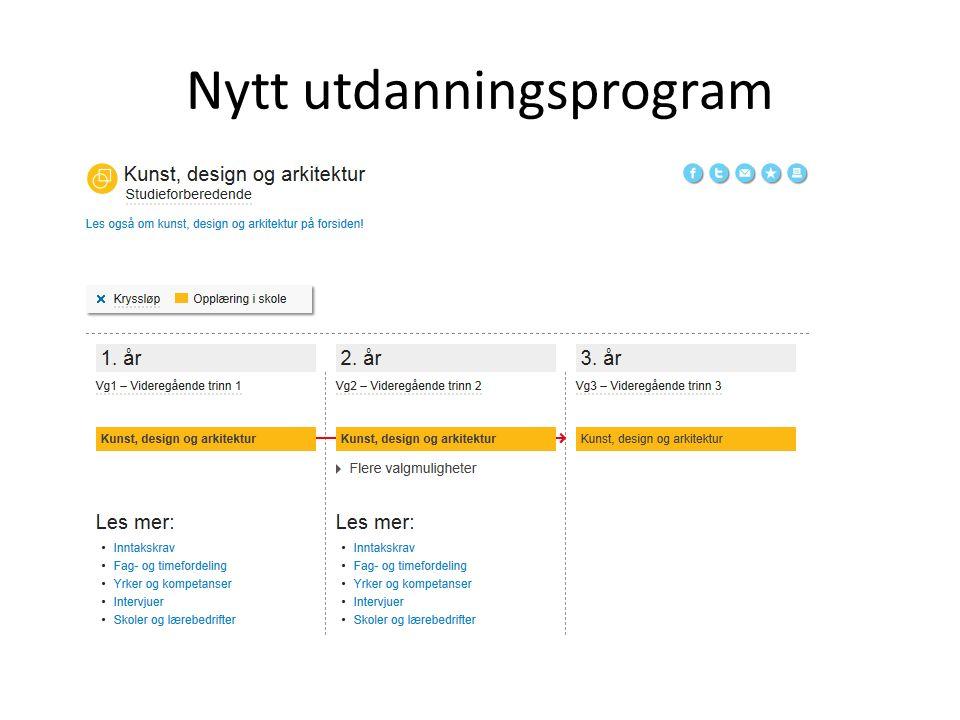 Utdanningsprogram utfases