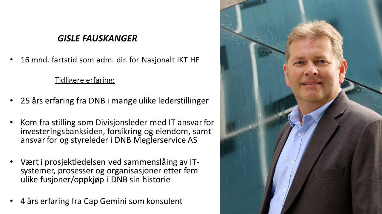 3 Agenda 1.Om Nasjonal IKT HF 2IKT-Strategi for spesialisthelsetjenesten 2016-2019