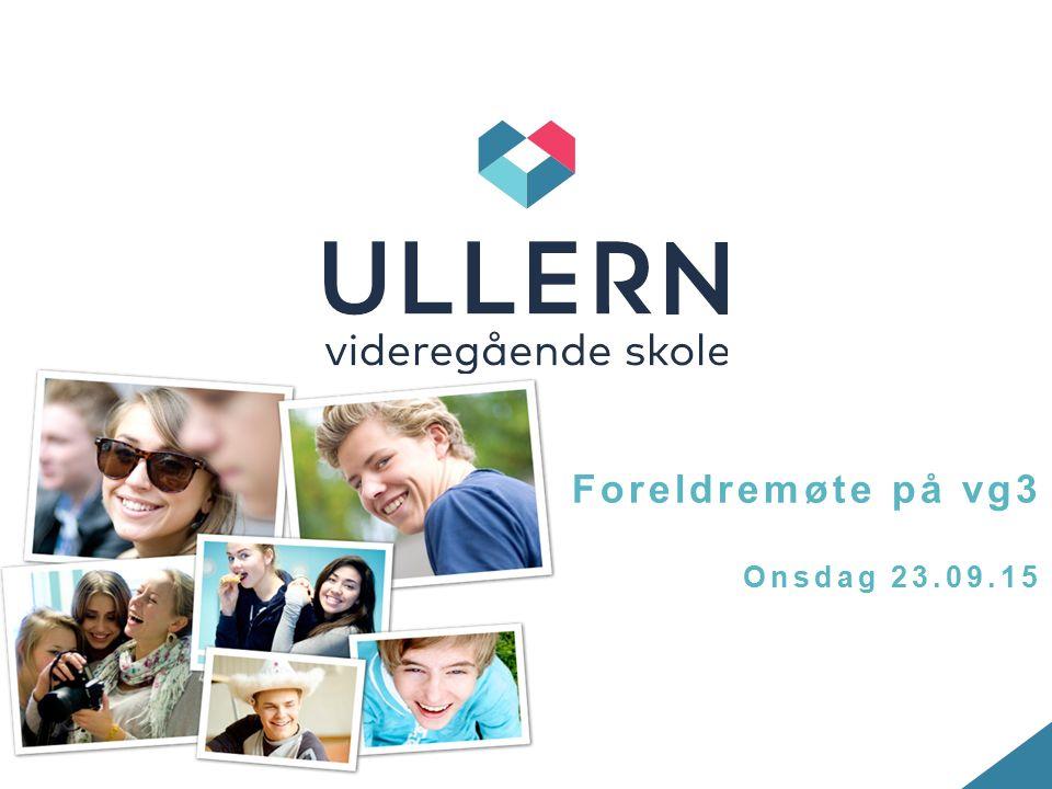 Foreldremøte på vg3 Onsdag 23.09.15