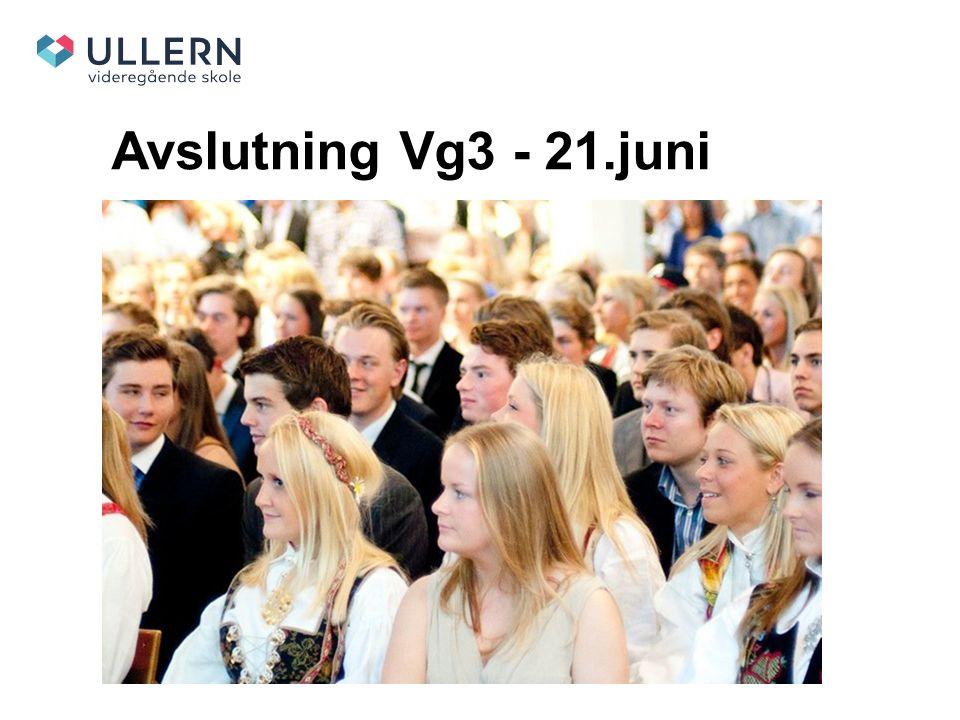 Avslutning Vg3 - 21.juni