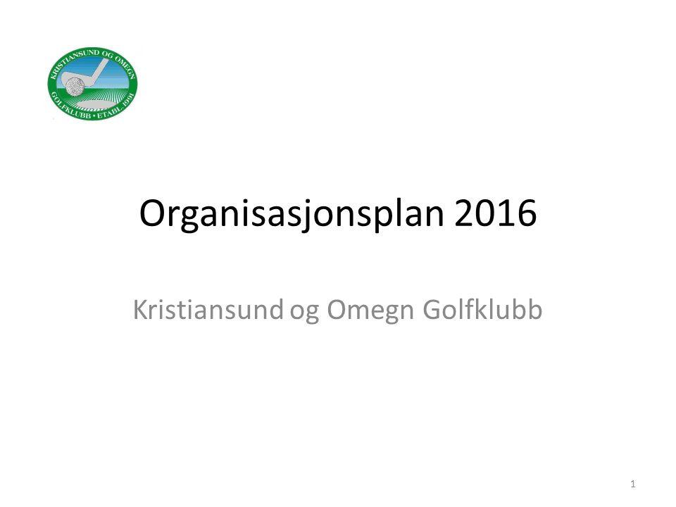 Organisasjonsplan 2016 Kristiansund og Omegn Golfklubb 1