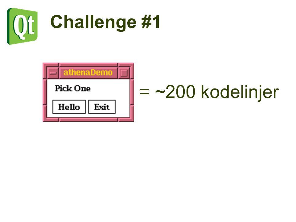 = ~200 kodelinjer